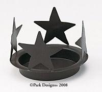 "Black Star  Candle Pan 6 1/4"""