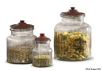"""Accent Jars w/lid 5 1/2""""  Red"""