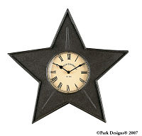 Black Star Metal Clock