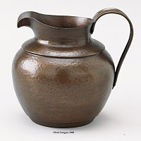 Hammered Metal Pitcher