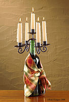 Candelabra  - Wine Bottle Topper