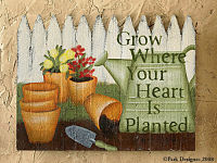 "Gardener's Wall Decor - ""GROW"""