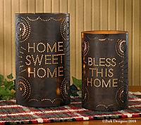 Home Sweet Home Pillar Candle Holder  Set