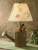 Watering Can Rustic Finish Lamp