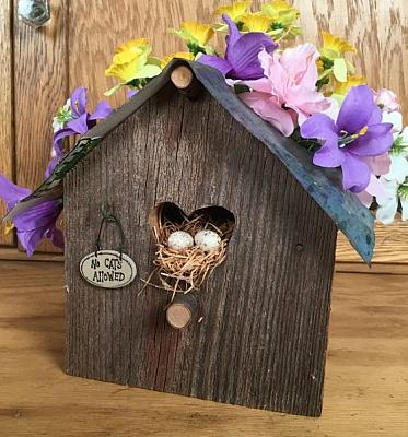 No Cats Allowed birdhouse