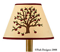 "Apple Tree Embroidered 10"" Lampshade"