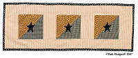 Black Star Table Runner 36""