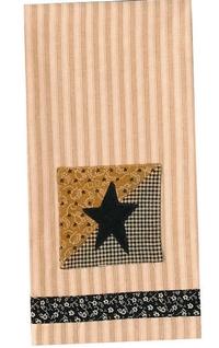 Black Star Decorative Dishtowel