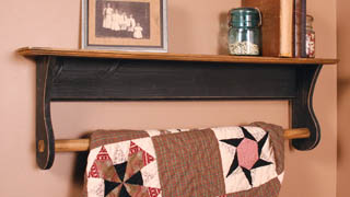 Quilt Hanger and Shelf