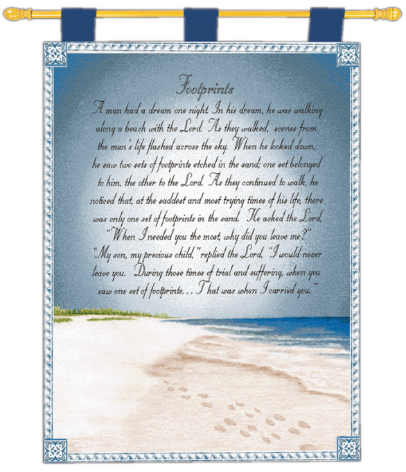 Footprints In The Sand Wallhanging