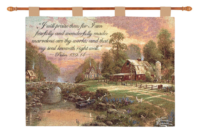 Sunset at Riverbend Farm Wall Hanging